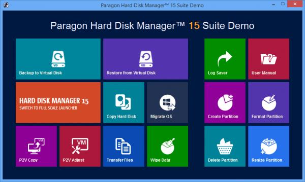 Paragon Hard Disk Manager 15 Suite