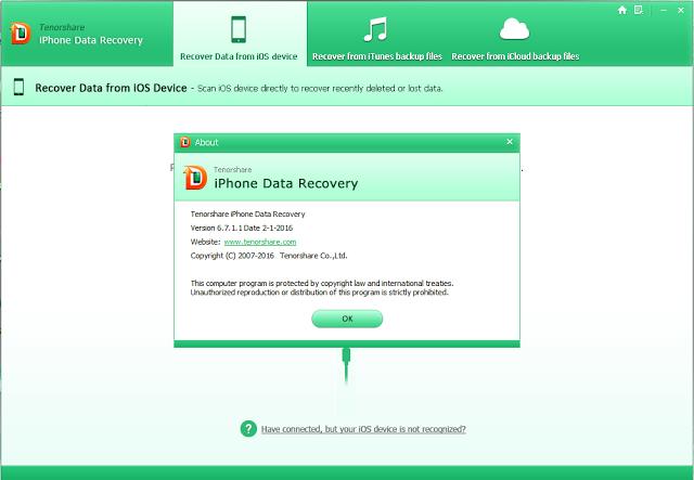 Tenorshare iPhone Data Recovery 6 7 1 1