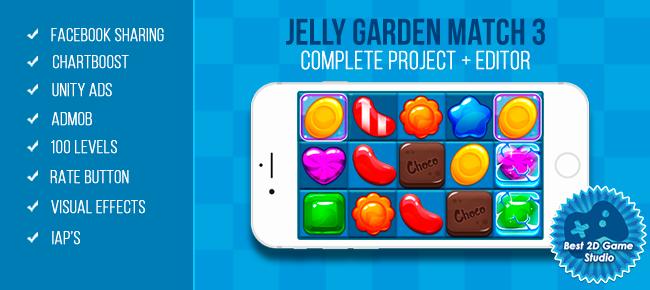 Unity Asset - Jelly Garden Match 3