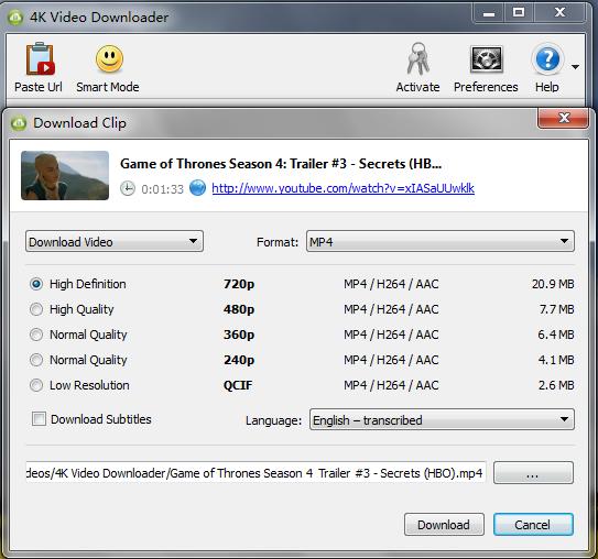 4K Video Downloader 4.1.2.2075