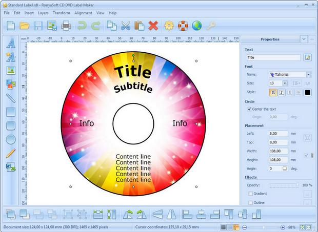 RonyaSoft CD DVD Label Maker 3.2.9