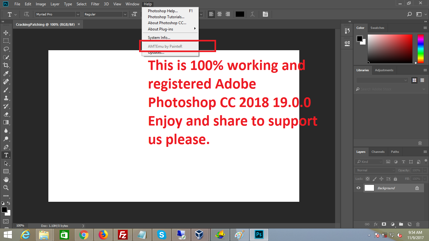 Adobe Photshop CC 2018 Patch crack 100% free download