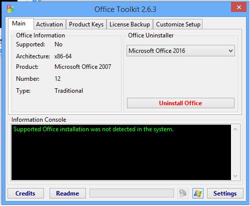 Microsoft Toolkit 2.6.3 Activator